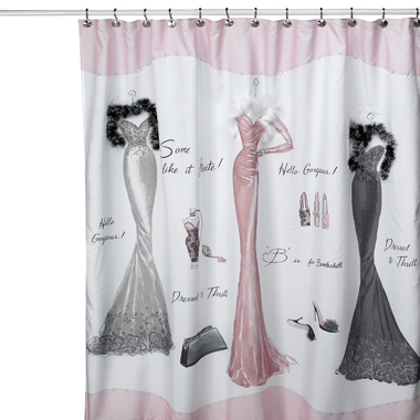 The Cheap Diva Shower Curtains Go Glam