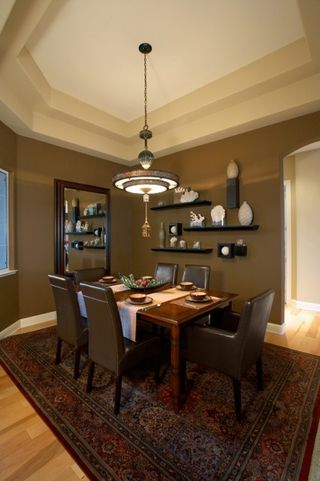 Dining Rooms Brown Walls | Interior Decorating