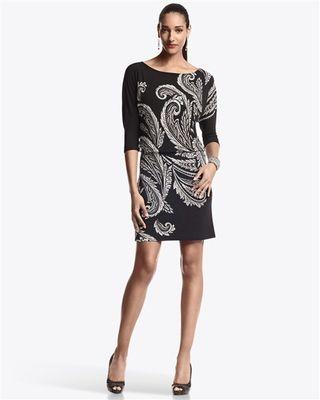 Paisley Jersey Dress