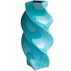 Turquoise Twist Ceramic Vases