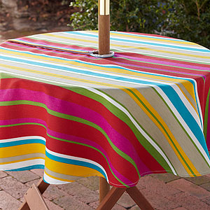 Garden Striped Tablecloth