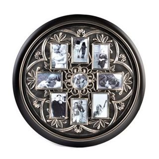 Round Black and Silver Collage Frame