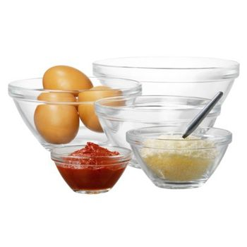 Bormioli Rocco Pompei 9 Glass Nested Bowl Set