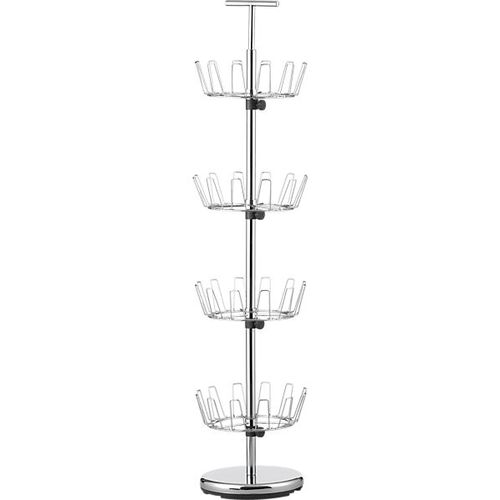 4 tier chrome shoe-rack