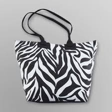Joe Boxer  Women's Spring Break Tote Bag - Zebra