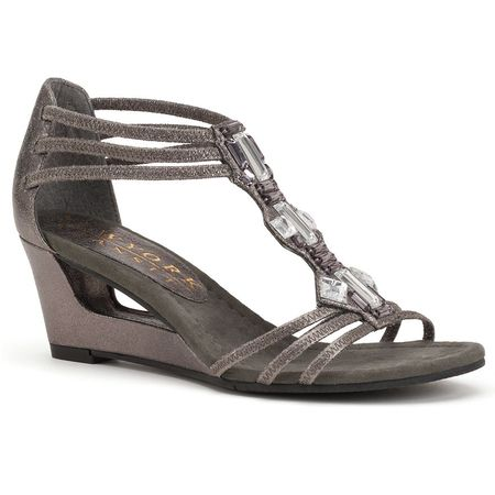 Kohls New York Transit sandals Pewter