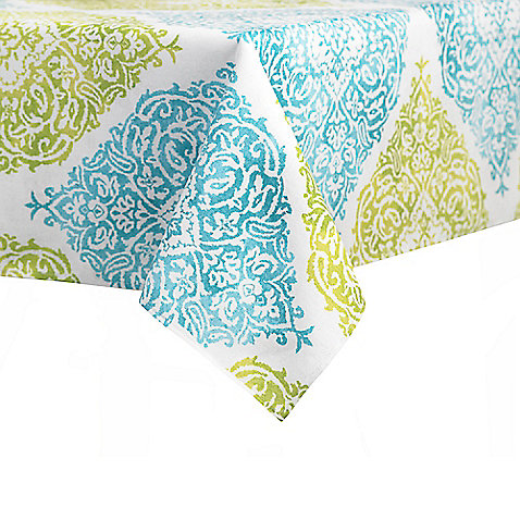 J. Queen New York Roma Tablecloth in Aqua