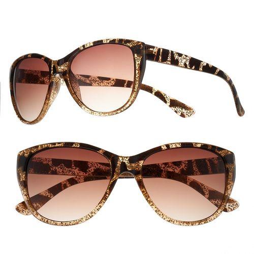 Daisy fuentes Glitter Cat's-Eye Sunglasses - Women