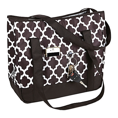 Fit & Fresh Aruba Insulated Beach Tote in Black