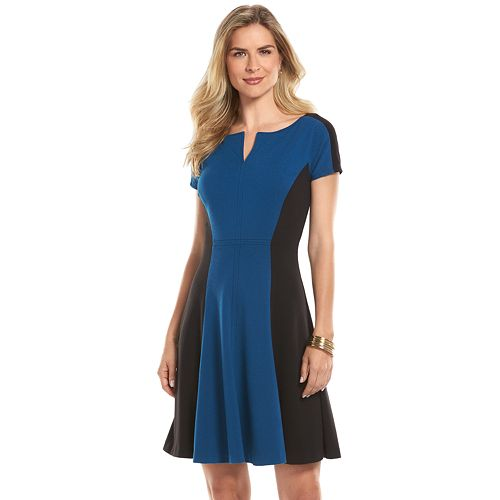 Chaps Colorblock A line dress