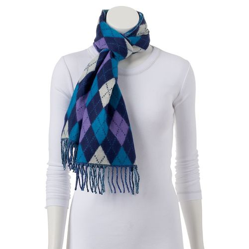 Softer than Cashmers Argyle scarf