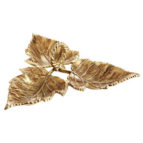 Leaf Condiment Server - Gold
