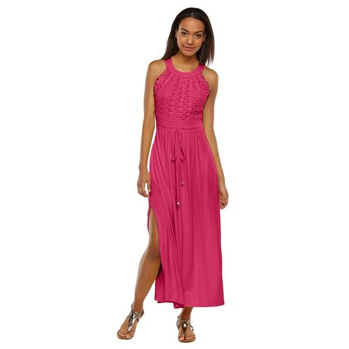 Dana Buchman Crochet Bodice Maxi Dress