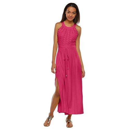 Dana Buchman Crochet Bodice Maxi Dress