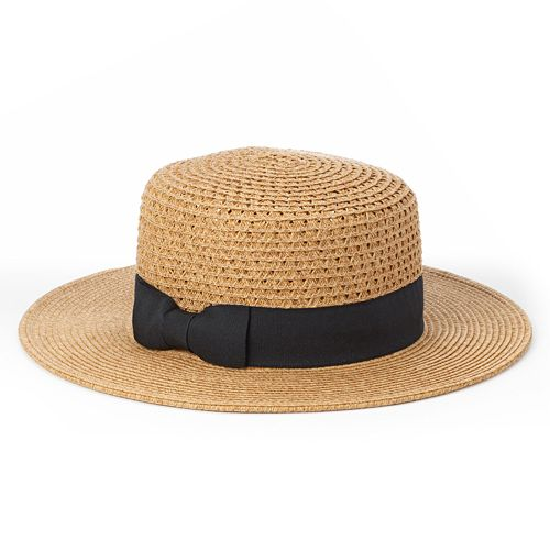 Apt. 9 Grosgrain Straw Hat - Women's