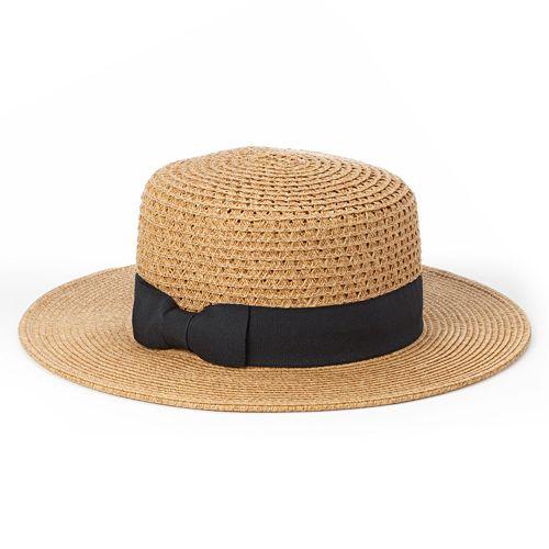 Apt. 9 Grosgrain Straw Hat - Women's
