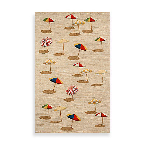 Beach Umbrella Indoor Outdoor Rug in Natural