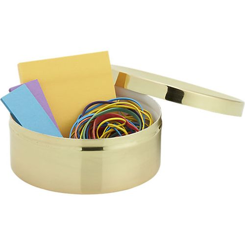 Gold catchall with-lid