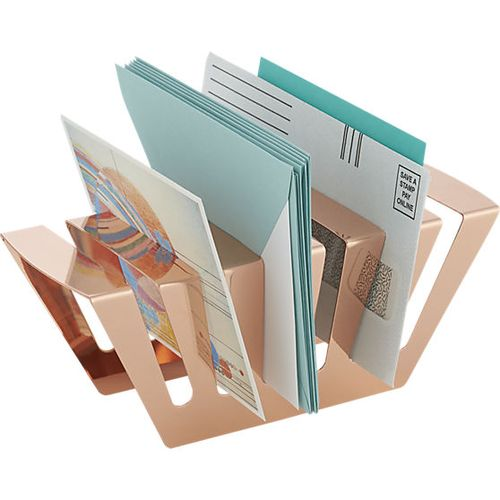 Balance rose gold letter-holder