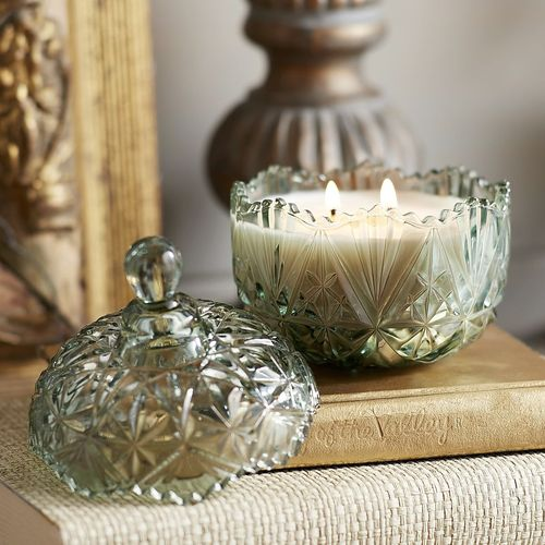 Chai Pumpkin Vintage-Style Dish Filled Candle