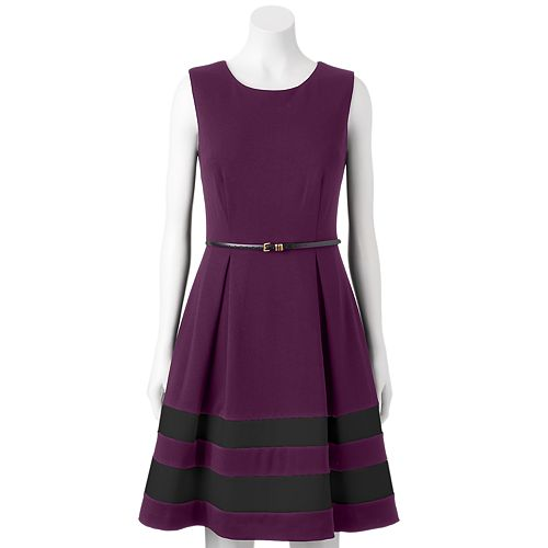 Dana Buchman Ponte Fit & Flare Dress - Women's