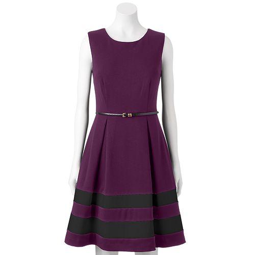 Dana Buchman Ponte Fit & Flare Dress - Women's