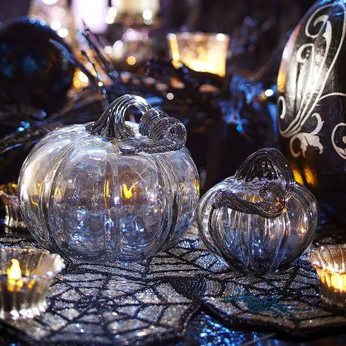 Glass Pumpkins - Gray Smoke