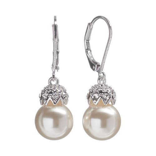 Croft & Barrow Silver Tone Simulated Pearl & Simulated Crystal Drop Earrings