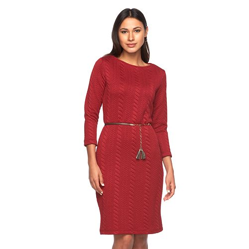 Women's Sharagano Cable-Knit Dress
