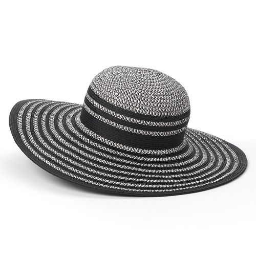 Apt. 9 Metallic-Stripe Tweed Floppy Hat - Women's