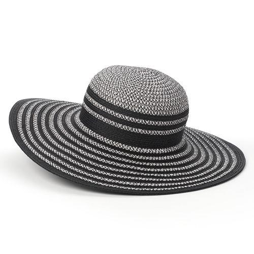 Apt. 9 Metallic-Stripe Tweed Floppy Hat - Women's