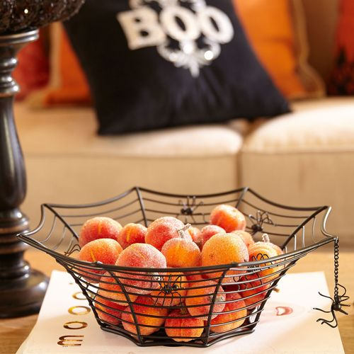 Spider Web Metal Candy Basket