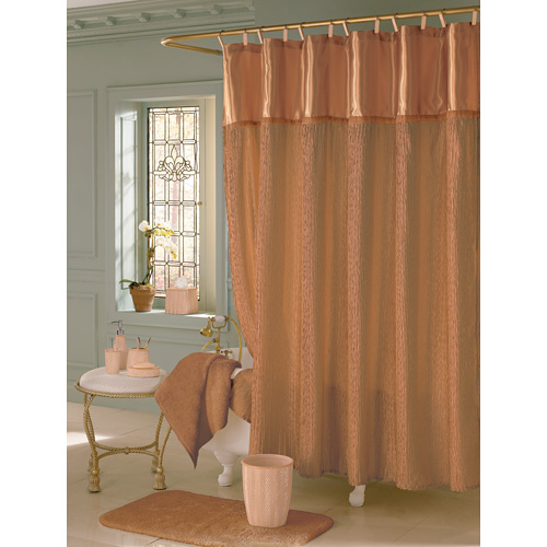 Investing In A Neutral Shower Curtain Like Subdued Metallic Silver Or Gold Crinkle Texture Some Less Than Shiny Doesnt